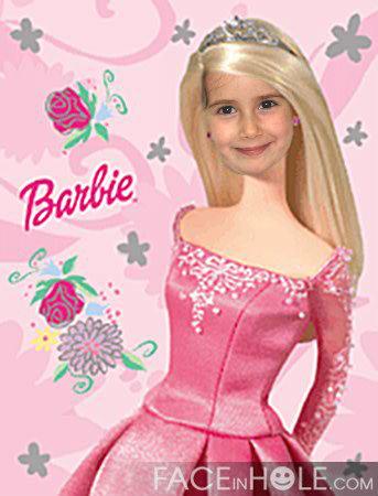 Fotomontajes infantiles de Barbie