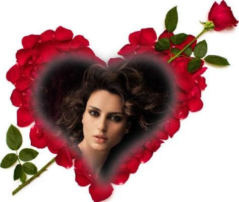 Fotoefectos con rosas rojas.