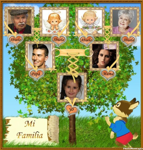 Montaje árbol de familia