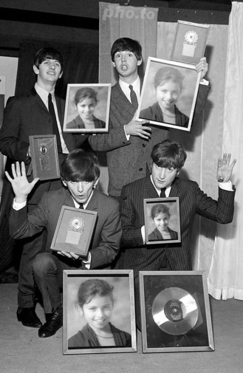 Imágenes montadas con los Beatles.