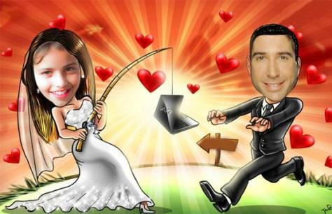 Fotomontajes para invitaciones de boda.