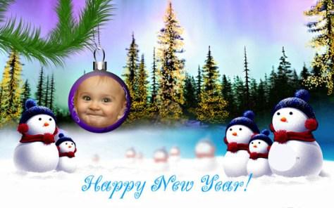 Montajes de fotos Feliz Año Nuevo.