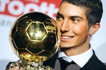 Fotoefectos de Ronaldo Balón de Oro.