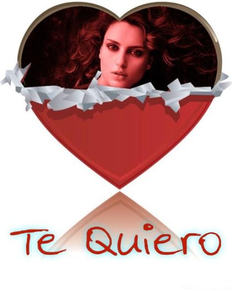Montajes con Corazones y Mensajes de Amor.