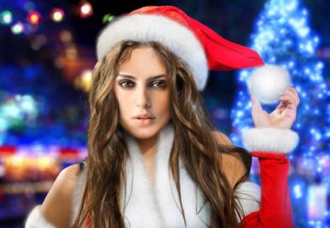 Fotomontaje Santa Claus mujer