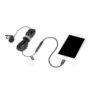 Saramonic LavMicro U1B Omnidirectional Lavalier Microphone with Lightning Connector for iOS Devices {600cm Cable}