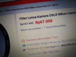 filter polarizer cpl 58mm discount price