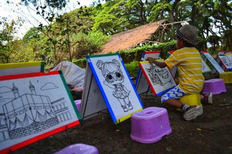 hutan de djawatan painting toddler