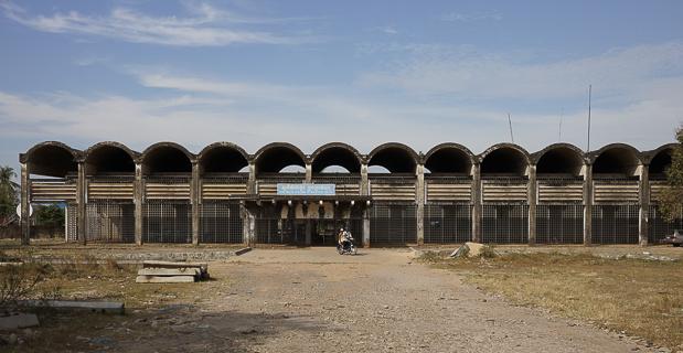 Der Bahnhof von Sihanoukville, der nicht mehr in Betrieb ist