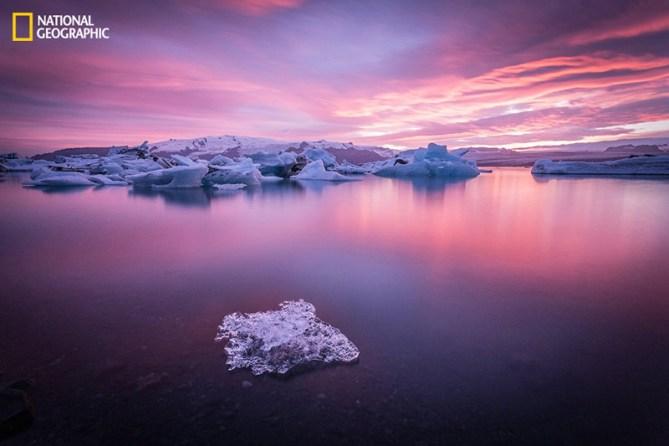 Paisaje onírico, río glaciar de Jokulsarlon (Islandia)