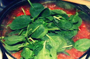 add spinach jalapenos and lime