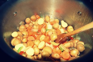 add potatoes and carrots