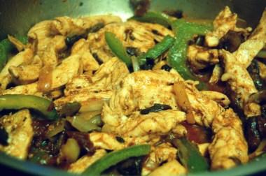 saute chicken with veggies