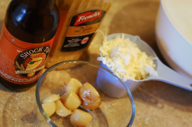 beer garlic cheddar and dijon