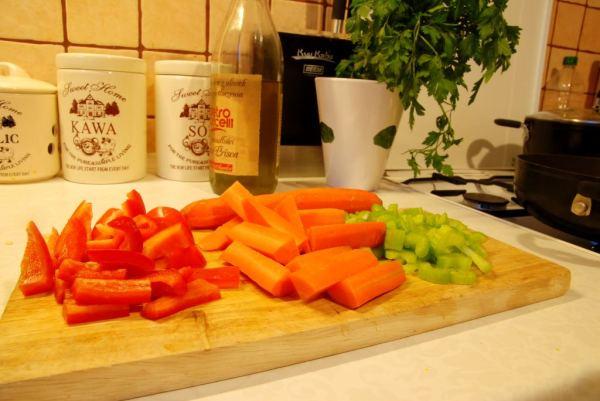 Przygotowane warzywa