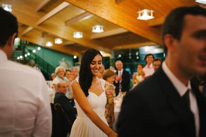 Entrada dos noivos na sala