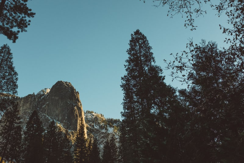 Yosemite National Park at sunset