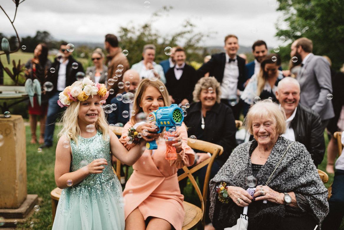tasmania wedding photographer pooley wines bubble machine