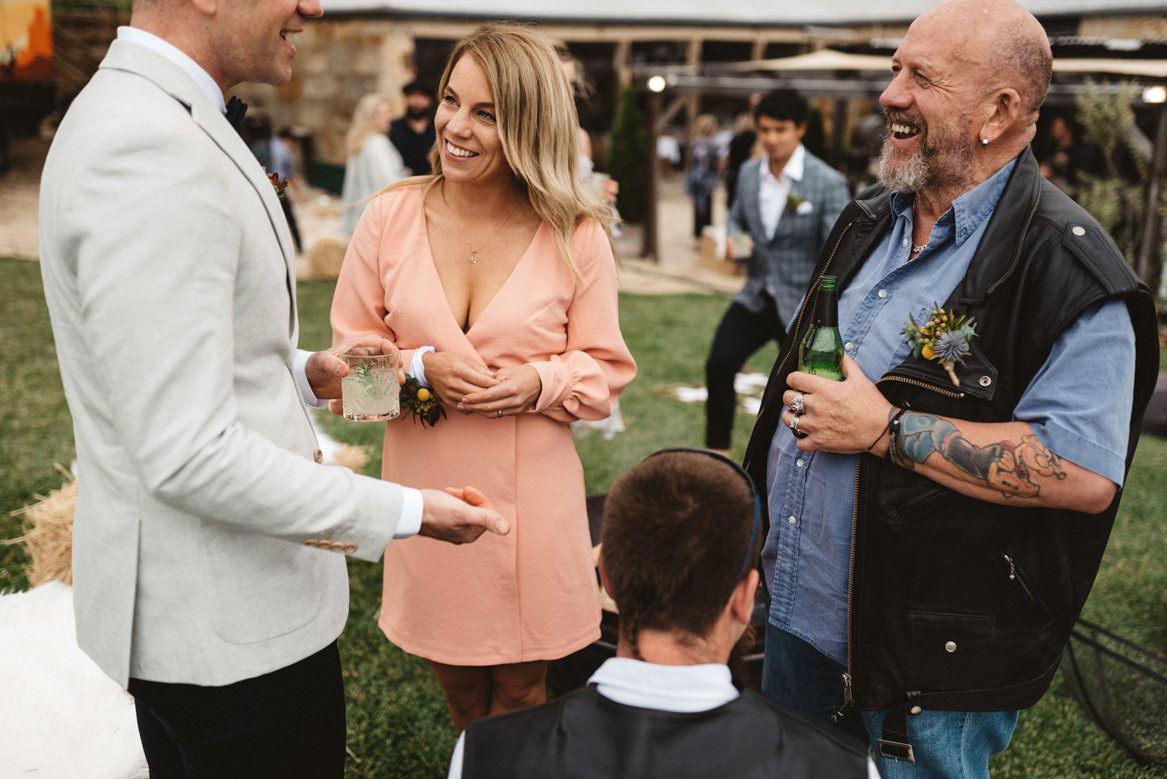 tasmania wedding photographer tattooed father of groom
