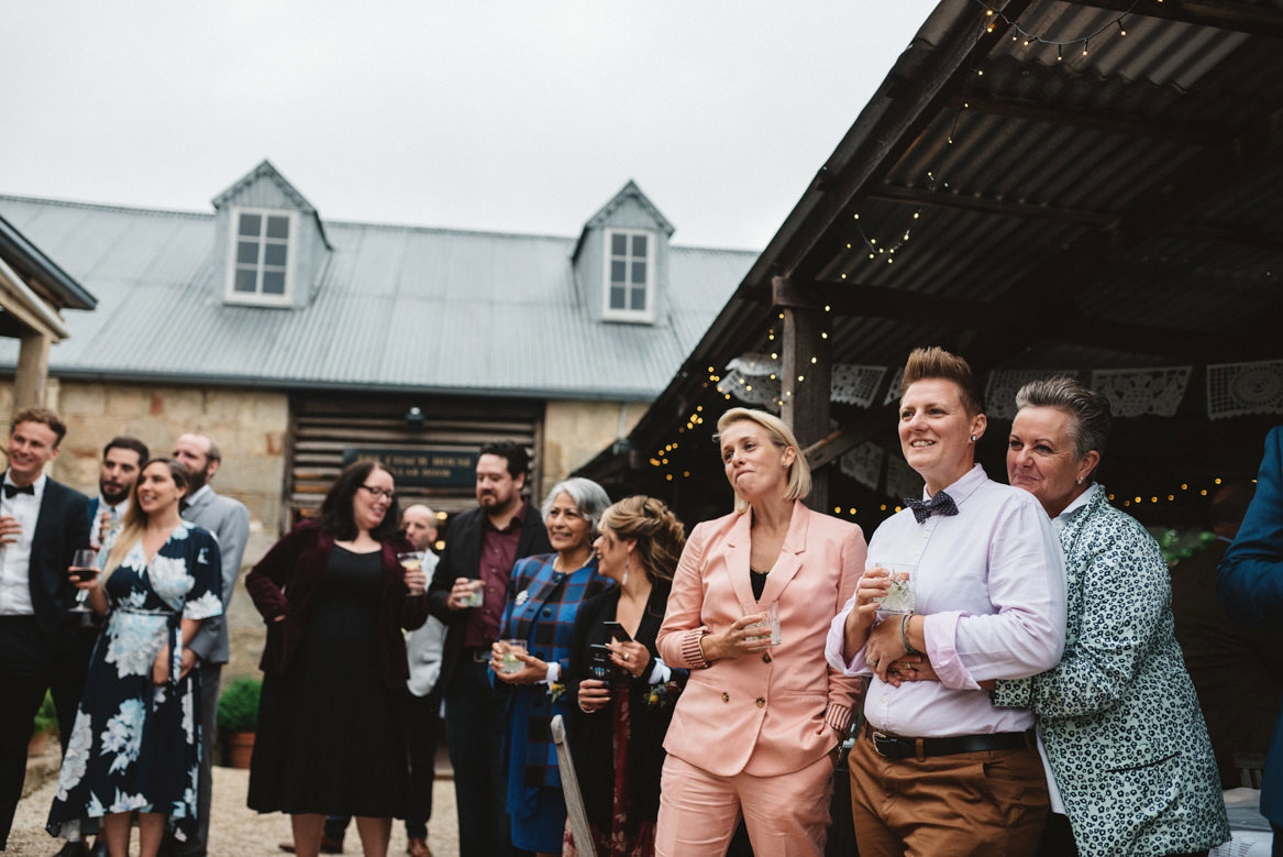 Tasmania wedding photographer speech reaction lesbian couple
