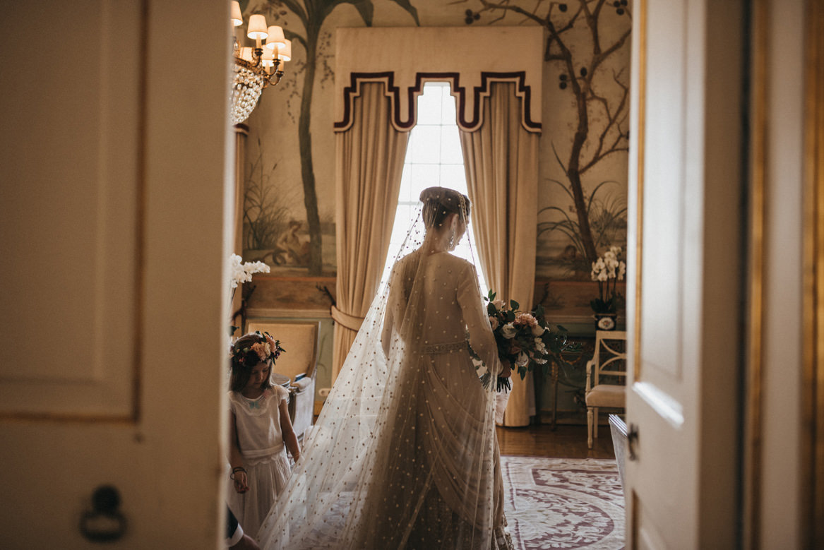 Bride getting ready at Tivoli Seteais
