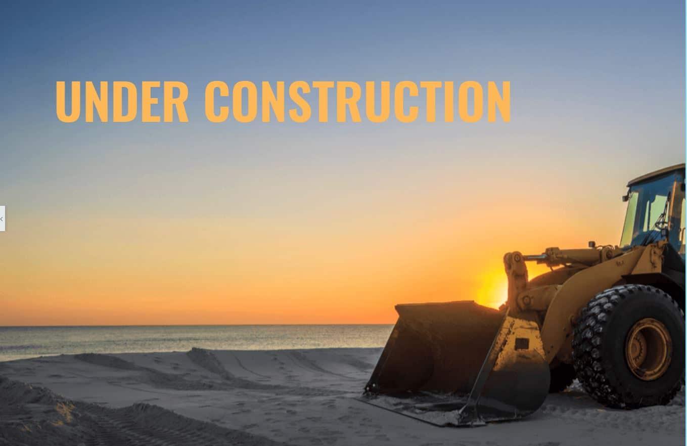 Under construktion - Landingspage
