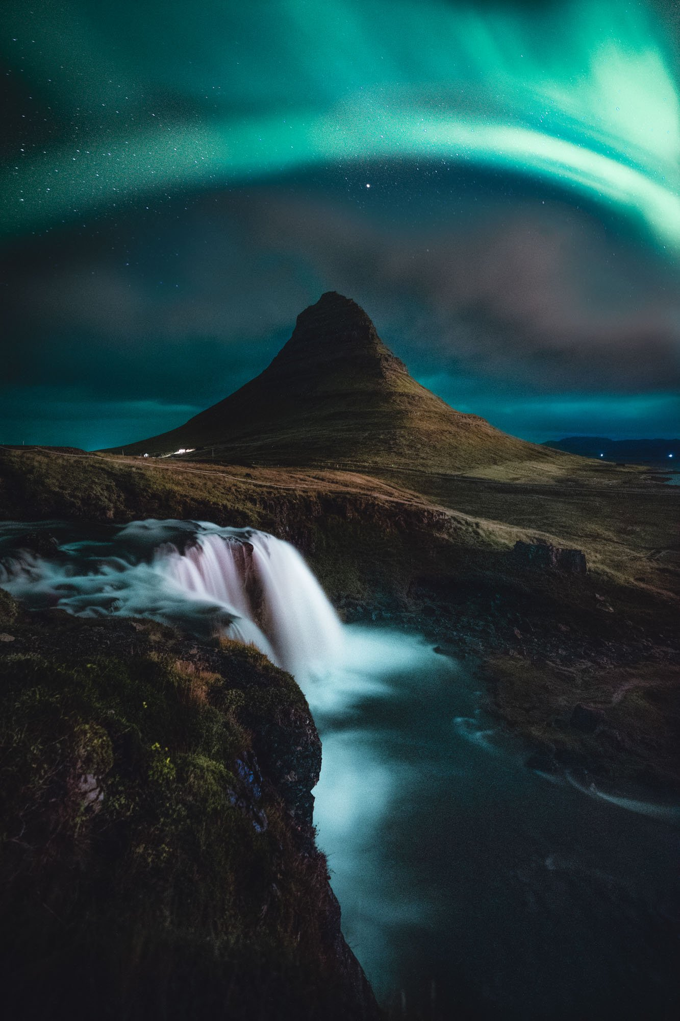 Aurora Boreal Larga Exposicion Islandia Linzex