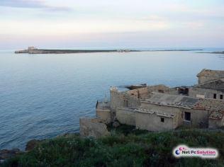 Vista della Tonnara e dell'isola di Capo Passero