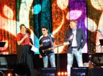 Edoardo Bennato Sveva Sagramola e Red Ronnie all' EXPO di Milano