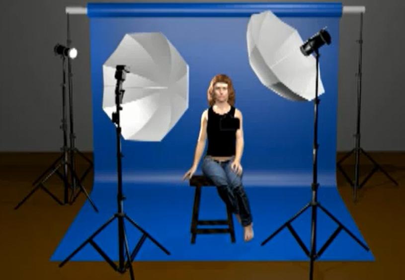 Programma che simula l illuminazione in studio fotografia
