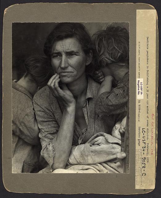 madre migrante foto Dorothea Lange