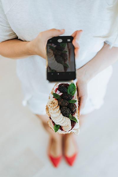 come fare fotografie di cibo con il cellulare