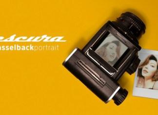 Escura The Hasselblad Portrait dorso Instax instantanea pellicola