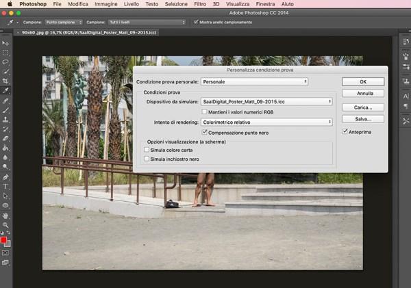 prova colore nel monitor profili ICC saal digital come fare per stampare