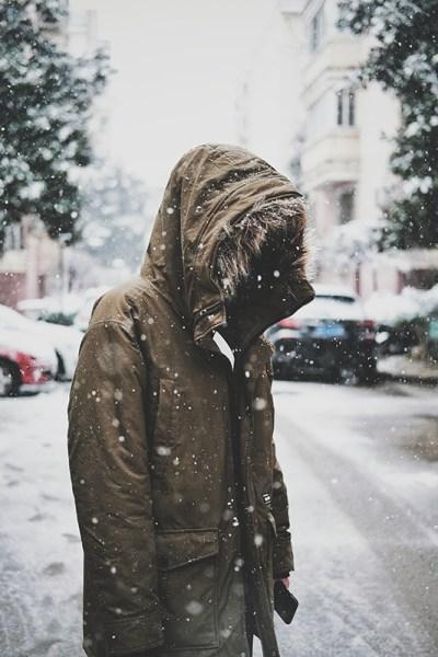 come fotografare la neve che cade