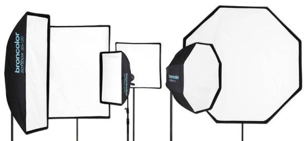 forme e dimensioni diverse softbox per ammorbidire luci da studio
