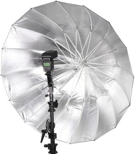 ombrello parabolico per la fotografia in studio flash diffusore per ammorbidire luce