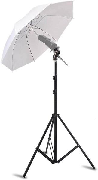 ombrello traslucido bianco fotografia a cosa serve come si usa illuminazione