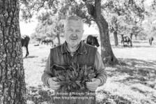 """Angelo Costantini, Responsabile del Presidio Slow Food """"Capocollo di Martina Franca"""", fotografato presso la masseria Tagliente"""