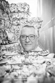 Piero Chirulli, titolare della Serveco, proprietaria dello stabilmento RecSel.