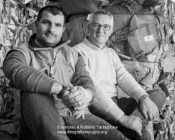 Giuseppe Palmisano (sinistra), Direttore dello Stabilimento RecSel e Piero Chirulli (destra) titolare della Serveco, proprietaria dello stabilmento.