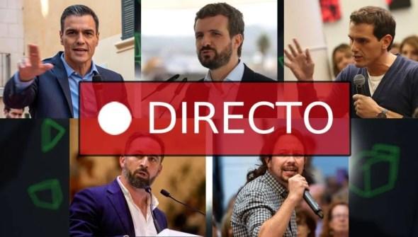 Elecciones generales y los candidatos del PSOE, PP, Vox, Unidas Podemos y Ciudadanos, últimas noticias EN DIRECTO