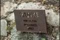 Hinweisschild Panke-Kilometer - Schlosspark Buch