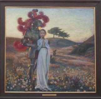 Bergh, Richard (1858-1919): Riddaren och Jungfrun (1897)