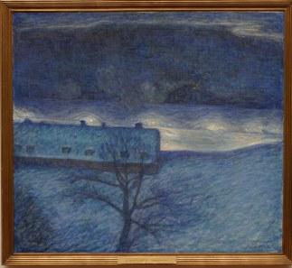 Jansson, Eugène (1862-1915) Vinternatt över kajen (1901)