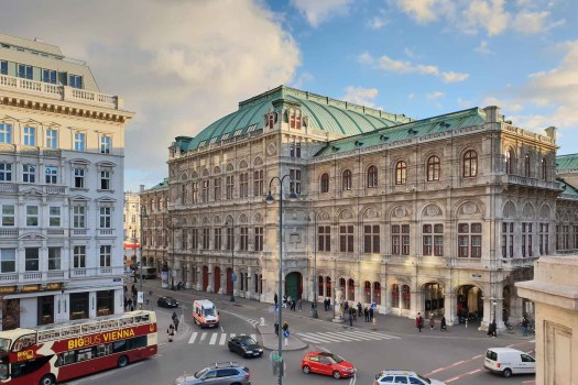 Albertinaplatz mit Blick auf die Oper