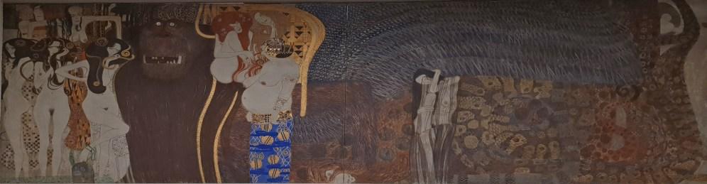 gesamte Stirnwand- rechts die Allegorie des Nagenden Kummers