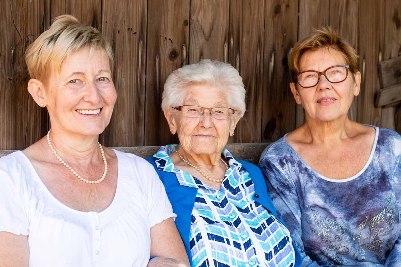 moeder met dochters