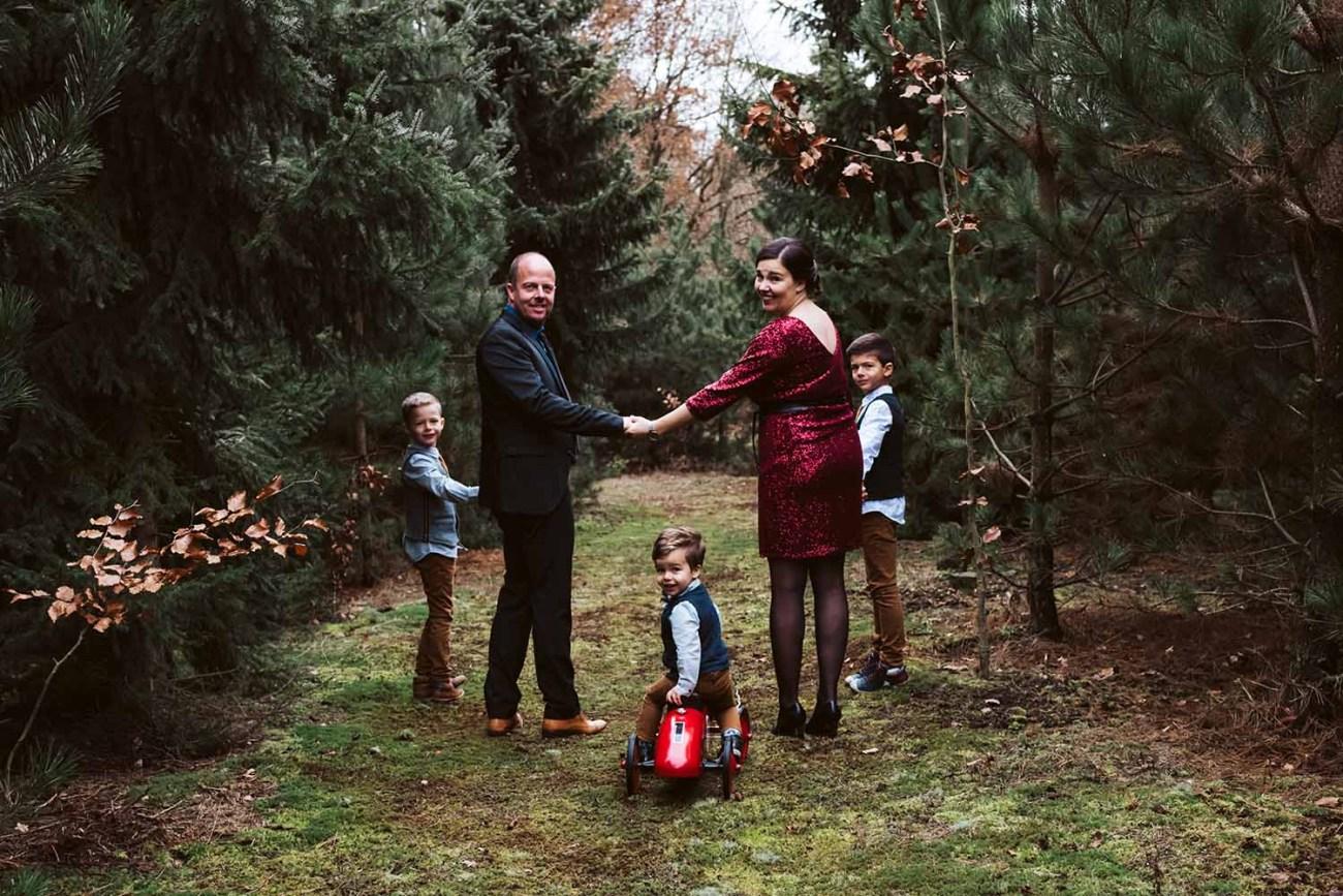 huwelijk bruid bruidegom kinderen winter