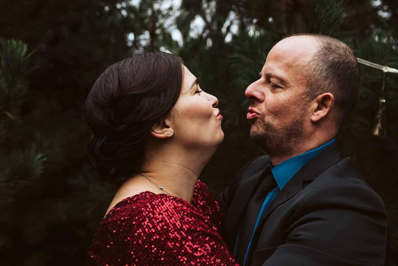 huwelijk bruid bruidegom winter